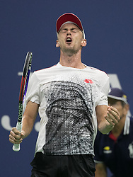 September 5, 2018 - Flushing Meadows, New York, U.S - John Millman reacts to winning a point during his match against Novack Djokovic on Day 10 of the 2018 US Open at USTA Billie Jean King National Tennis Center on Wednesday September 5, 2018 in the Flushing neighborhood of the Queens borough of New York City. Novack Djokovic defeats Millman, 6-3, 6-4, 6-4. (Credit Image: © Prensa Internacional via ZUMA Wire)