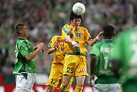 Fotball<br /> Frankrike 2004/05<br /> Saint Etienne v Nantes<br /> 11. september 2004<br /> Foto: Digitalsport<br /> NORWAY ONLY<br /> STEPHEN DROUIN (NAN) / ANTHONY LE TALLEC (ST-E)