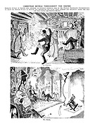 Christmas Revels Throughout the Empire. Intimate Studies of Empire life, obtained at enormous personal risk by Mr. Punch's Travelling Correspondent to assist the British Public to picture for themsleves the state their friends and relations across the seas get into during the Festive Season. I. - Canada. II. - India.