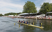 Henley, England. Heat of the Visitors Challenge cup. University of California, Berkeley. USA, passing through the Stewards Enclosure.  2015 Henley Royal Regatta, Henley Reach, River Thames, 14:06:36  Friday  03/07/2015   [Mandatory Credit. Peter SPURRIER/Intersport Images. .   Empacher.