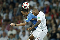 (L-R) Sebastian Coates of Uruguay, Manuel Fernandes of Portugal during the 2018 FIFA World Cup Russia round of 16 match between Uruguay and at the Fisht Stadium on June 30, 2018 in Sochi, Russia