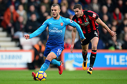 Jack Wilshere of Arsenal in action. - Mandatory by-line: Alex James/JMP - 14/01/2018 - FOOTBALL - Vitality Stadium - Bournemouth, England - Bournemouth v Arsenal - Premier League