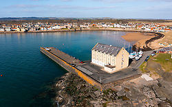 Aerial view of  Elie on the East Neuk of Fife, in Scotland, UK