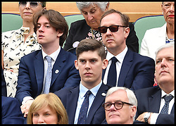 July 11, 2017 - London, London, United Kingdom - Image ©Licensed to i-Images Picture Agency. 11/07/2017. London, United Kingdom. Wimbledon Tennis Championships 2017-Day Eight. Mail on Sunday editor Geordie Greig in the royal box for the Novak Djokovic v Adrian Mannarino match on centre court at Wimbledon. Picture by Andrew Parsons / i-Images (Credit Image: © Andrew Parsons/i-Images via ZUMA Press)