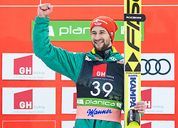 Winner Markus Eisenbichler (GER) celebrates at trophy ceremony after the Ski Flying Hill Individual Competition at Day 2 of FIS Ski Jumping World Cup Final 2019, on March 22, 2019 in Planica, Slovenia. Photo by Vid Ponikvar / Sportida