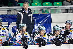 Rob Daum, head coach of EHC Liwest Linz, during ice-hockey match between HDD Tilia Olimpija and EHC Liwest Black Wings Linz in 51st Round of EBEL league, on Februar 5, 2012 at Hala Tivoli, Ljubljana, Slovenia. (Photo By Matic Klansek Velej / Sportida)