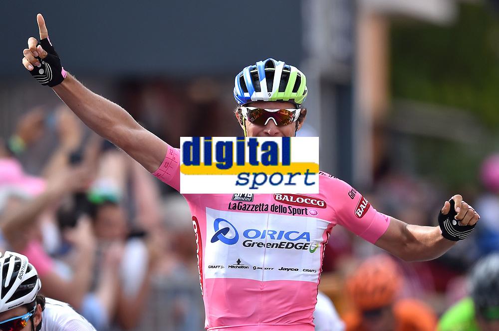 Arrival, Michael MATTHEWS (Aus) Pink Leader Jersey, winner, during the Giro d'Italia 2015, Stage 3, Rapallo - Sestri Levante (136Km) on May 11, 2015. Photo Tim de Waele / DPPI