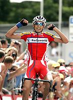 Bildnummer: 02970130  Datum: 17.07.2007  <br /> <br /> Mauricio Soler (Kolumbien / Barloworld) gewinnt die 9. Etappe der Tour de France 2007<br /> <br /> Norway only
