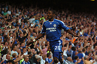 Photo: Tony Oudot.<br /> Chelsea v Blackburn Rovers. The FA Barclays Premiership. 15/09/2007.<br /> Salomon Kalou of Chelseacelebrates after scoring but the goal is disallowed