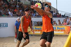 20160724 NED: NK Beachvolleybal 2016, Scheveningen <br />Mees Blom, Ruben Penninga<br />©2016-FotoHoogendoorn.nl / Pim Waslander
