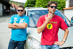 Mitja Kunc and Andrej Jerman at departure of Slovenian Men Ski Team to training camp in Argentina and Chile on August 21, 2014 in SZS, Ljubljana, Slovenia. Photo by Vid Ponikvar / Sportida.com
