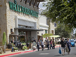 June 19, 2012 - Austin, TX, USA - Whole Foods Market, headquartered in Austin, Texas, plans to add more than 30 stores this year, a record for the chain. But even as it expands it faces challenges from other grocers such as Trader Joes. Customers enter one of the chain's stores in Austin in 2012. (Credit Image: © Laura Skelding/TNS/ZUMAPRESS.com)