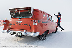 Vladimir Semenyuta's Big Boys Big Toys 1955 Chevy Sedan Delivery at the Baikal Mile Ice Speed Festival. Maksimiha, Siberia, Russia. Tuesday, February 25, 2020. Photography ©2020 Michael Lichter.