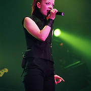 BETHLEHEM - OCTOBER 29: Garbage lead singer Shirley Manson performs during the MTV Campus Invasion Tour on October 29, 1999, at Stabler Arena in Bethlehem, Pennsylvania. ©Lisa Lake