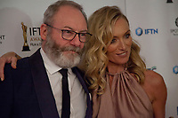 Liam Cunningham, awarded Best Supporting Actor for Game of Thrones and Victoria Smurfit, awarded Best Supporting Actress for The Lears at the IFTA Film & Drama Awards (The Irish Film & Television Academy) at the Mansion House in Dublin, Ireland, Thursday 15th February 2018. Photographer: Doreen Kennedy