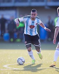 Hearts Soufian El Hassnaoui. <br /> Alloa Athletic 0 v 1 Hearts, Scottish Championship played at Recreation Park, Alloa.
