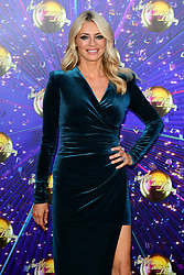 Tess Daley arriving at the red carpet launch of Strictly Come Dancing 2019, held at BBC TV Centre in London, UK.