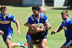 Cape Town-180213 EW Viljoen of Stomers at training sesision at the Bellville HPC this morning,preparing for their Super 15 game against Jaguares at Newlands on saterday .pic Phando Jikelo/African News Agency/ANA