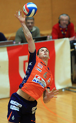 Mitja Gasparini at finals of Slovenian volleyball cup between OK ACH Volley and OK Salonit Anhovo Kanal, on December 27, 2008, in Nova Gorica, Slovenia. ACH Volley won 3:2.(Photo by Vid Ponikvar / SportIda).
