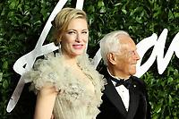Cate Blanchett and Giorgio Armani, The Fashion Awards 2019, Royal Albert Hall, London, UK, 02 December 2019, Photo by Richard Goldschmidt