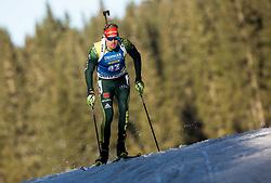Johannes Kuehn (GER) in action during the Men 10km Sprint at day 6 of IBU Biathlon World Cup 2018/19 Pokljuka, on December 7, 2018 in Rudno polje, Pokljuka, Pokljuka, Slovenia. Photo by Vid Ponikvar / Sportida