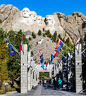 Avenue of Flags, Mount Rushmore National Memorial, Black Hills, South Dakota. Photo taken October 1, 2017.