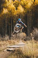 Axel Brunst riding the Valley Floor Trail, fatbiking in Telluride, Colorado.