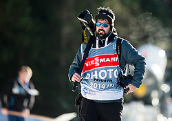 Photographer Jure Makovec during Men 12,5 km Pursuit at day 3 of IBU Biathlon World Cup 2014/2015 Pokljuka, on December 20, 2014 in Rudno polje, Pokljuka, Slovenia. Photo by Vid Ponikvar / Sportida