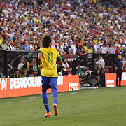 Neymar, Brazil, during the USA V Brazil International friendly soccer match at FedEx Field, Washington DC, USA. 30th May 2012. Photo Tim Clayton