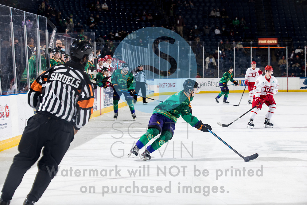Youngstown Phantoms lose 5-4 to the Dubuque Fighting Saints at the Covelli Centre on March 13, 2021.