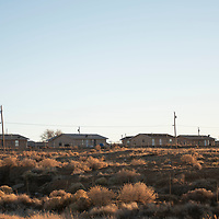The Tse'ii'ahi' Navajo Housing Authority Subdivision in Standing Rock, New Mexico photographed Thursday.
