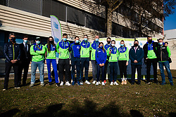 Slovenian natioanl team during reception and press conference on return of Slovenian Athletic National team from European Championships in Torun (POL), on March 8, 2021 in  Ljubljana, Slovenia.  Photo by Grega Valancic / Sportida