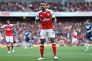 Theo Walcott of Arsenal pulls a face.. Premier league match, Arsenal v Middlesbrough at the Emirates Stadium in London on Saturday 22nd October 2016.<br /> pic by John Patrick Fletcher, Andrew Orchard sports photography.