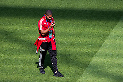 LYON, FRANCE - Tuesday, July 5, 2016: Wales' captain Ashley Williams during a training session ahead of their UEFA Euro 2016 Championship Semi-Final match against Portugal at the Stade de Lyon. (Pic by Paul Greenwood/Propaganda)