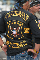 Vets gathered in Meredith for the Northeast POW/MIA Network's Freedom Ride and vigil to raise awareness of POW/MIA issues during Laconia Motorcycle Week, New Hampshire, USA. Thursday June 15, 2017. Photography ©2017 Michael Lichter.