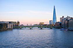 River Thames, Southwark Bridge and The Shard