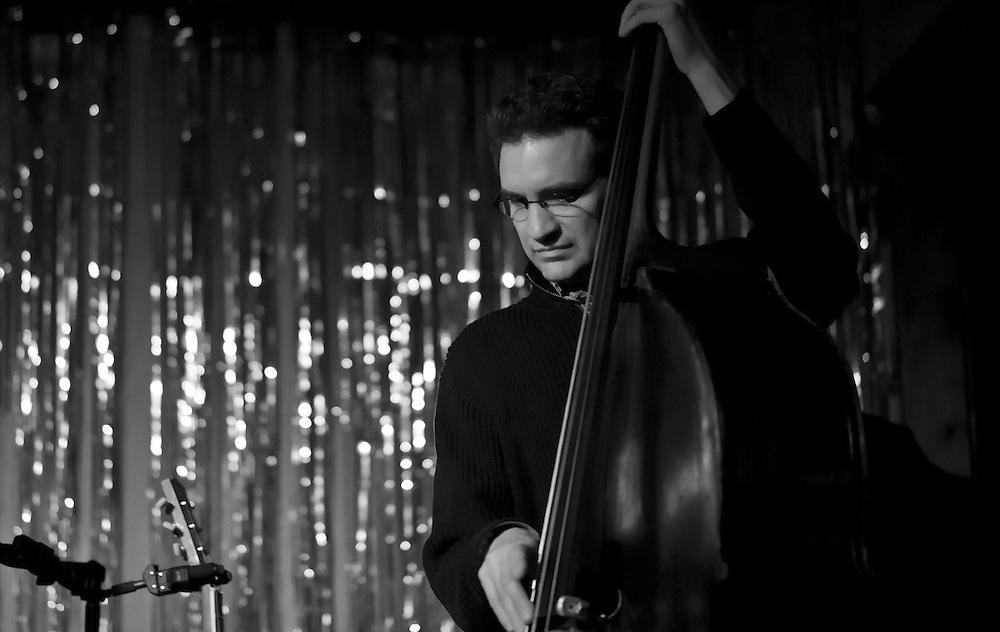 Bassist Viktor Krauss performing with the Jack Silverman Ordeal in Nashville, TN.