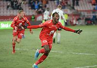 Fotball , 8. november 2019 , Eliteserien , Brann - Odd<br /> Daouda Bamba , Brann jubel scoring