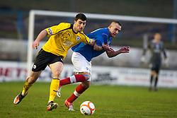 Falkirk's Johnny Flynn and Cowdenbeath's Scott Linton..Cowdenbeath 4 v 1 Falkirk, 9/2/2013..©Michael Schofield.
