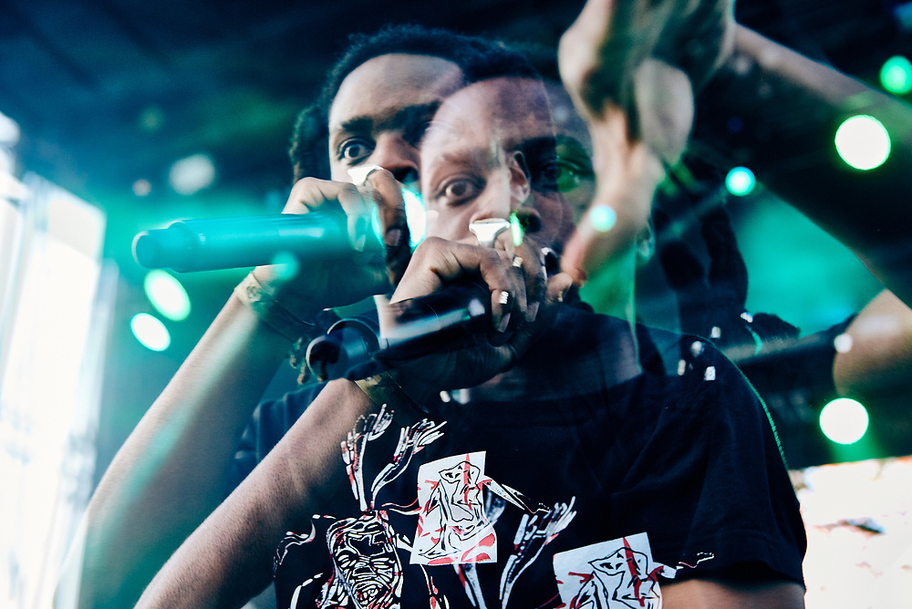 Denzel Curry performs at the Afropunk festival in Atlanta