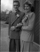 01/09/1952<br /> 09/01/1952<br /> 01 January 1952<br /> Wedding of Mr. P. O'Loughlin and Miss J. Nixon, 39 Ferguson Road, Drumcondra, at Corpus Christi and 39 Ferguson Road.
