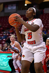 29 January 2017: Brechelle Beachum during an College Missouri Valley Conference Women's Basketball game between Illinois State University Redbirds the Salukis of Southern Illinois at Redbird Arena in Normal Illinois.