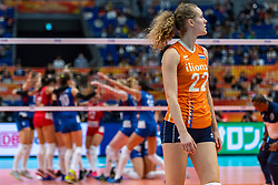 19-10-2018 JPN: Semi Final World Championship Volleyball Women day 20, Yokohama<br /> Serbia - Netherlands / Nicole Koolhaas #22 of Netherlands