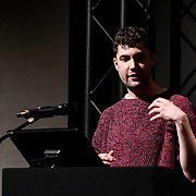 Speaker Jack Attridge of Flavourworks at ukie students at London Games Festival 2019: HUB at Somerset House at Strand, London, UK. on 2nd April 2019.