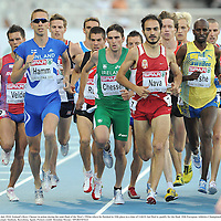 28 July 2010; Ireland's Rory Chesser in action during his semi-final of the Men's 1500m where he finished in 10th place in a time of 3:44.01 but filed to qualify for the final. 20th European Athletics Championships MontjuÔc Olympic Stadium, Barcelona, Spain. Picture credit: Brendan Moran / SPORTSFILE