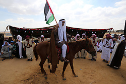 October 10, 2018 - Khan Younis, Gaza Strip, Palestinian Territory - Palestinians perform the traditional dancing during a heritage festival at the Israel-Gaza border, in Khan Younis in the southern Gaza Strip on October 10, 2018  (Credit Image: © Ashraf Amra/APA Images via ZUMA Wire)