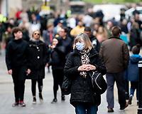 people out in Windsor after The Duke of Edinburgh died, aged 99, Windsor Castle, Windsor, Berkshire, UK.photo by Brian Jordan