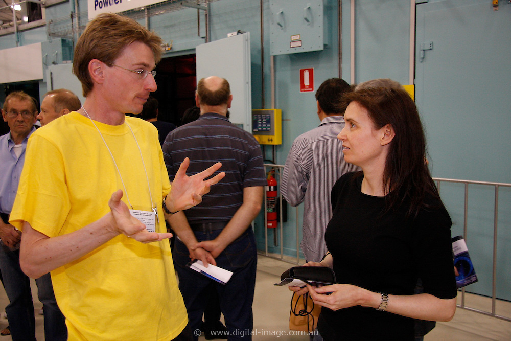 Australian Synchrotron Open Day 2008Peter Kappen from Latrobe with Elizabeth Stagoll, a local resident who has followed the project with interest and was very excited being able to visit.