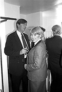 Lord and Lady Tryon. shop opening. Beauchamp Place. 28 Feb 1985.  *** Local Caption *** -DO NOT ARCHIVE-© Copyright Photograph by Dafydd Jones. 248 Clapham Rd. London SW9 0PZ. Tel 0207 820 0771. www.dafjones.com.