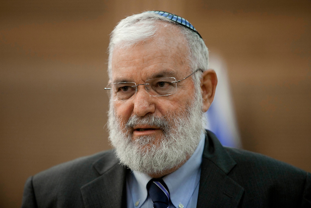 Israel's national security advisor Yaakov Amidror attends a session of the State Control Committee at the Knesset, Israel's parliament in Jerusalem, on June 14, 2012.